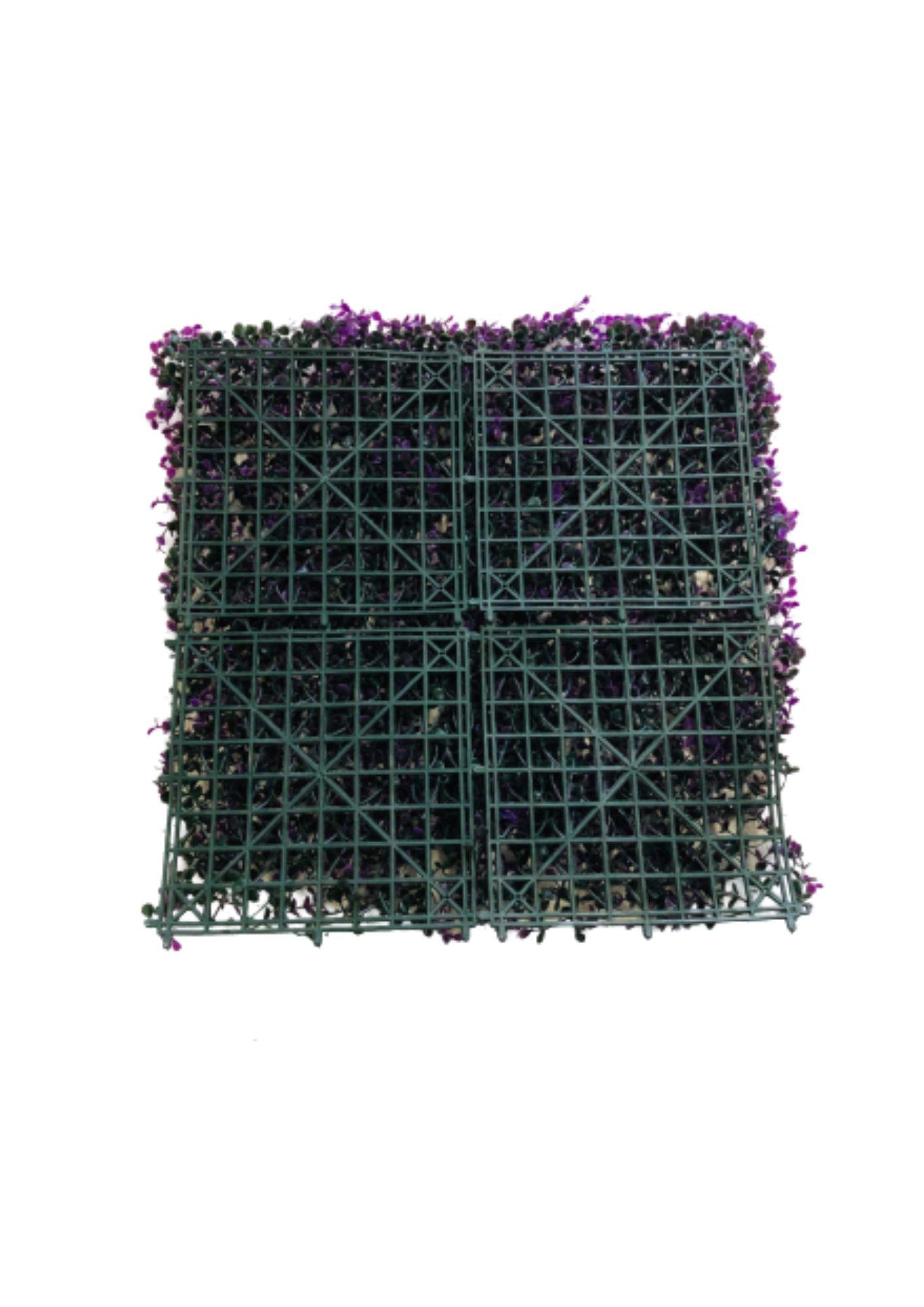 Lavender Artificial Hedge Tile (A006) 50 x 50 CM
