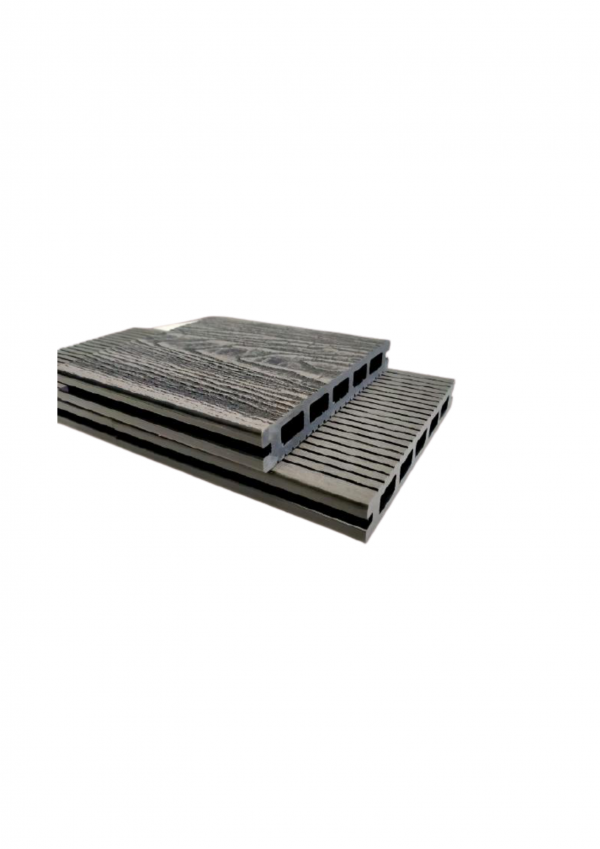 3D Hollow Composite Decking Boards 145 x 21 x 5400mm Black Colour