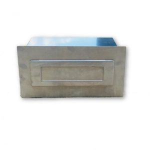 Brick Insert in Letter Box Silver Adjustable with Rear Opening NB 6005