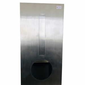 Brick Insert in Letter Box Silver with Rear Opening NB 6019