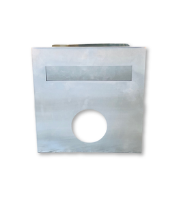 Brick Insert in Letter Box Silver Adjustable with Rear Opening NB 6019