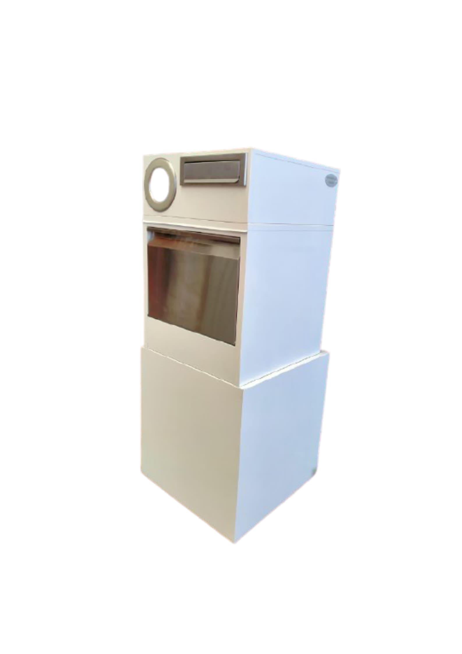 Metal Mailbox – Nice Backyard White Parcel Box 6005