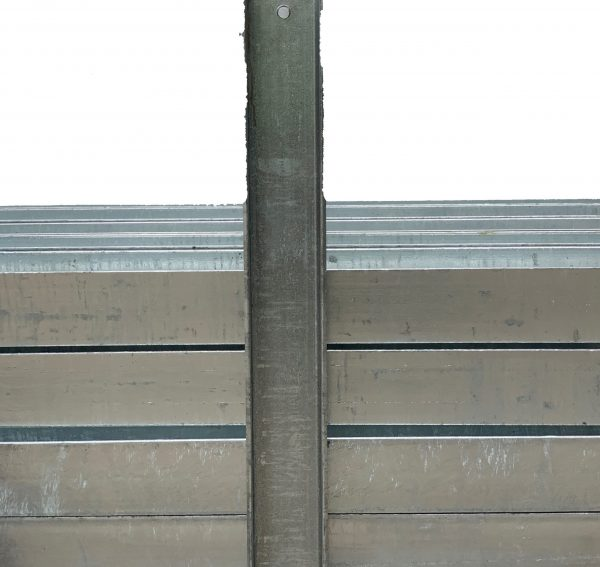 6.1mm Thick Steel Post for 75mm Sleeper