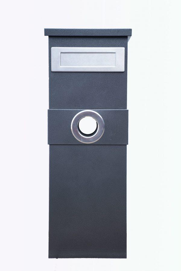 Metal Mailbox - Steel Black JHC-6003 Melania Black