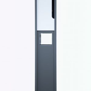 Metal Mailbox - Steel Grey JHC-6001