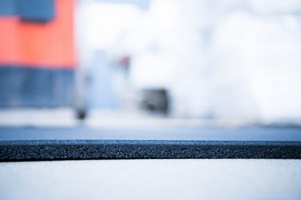 Rubber Gym Mats 1mx1mx15mm Black with Blue Flecks