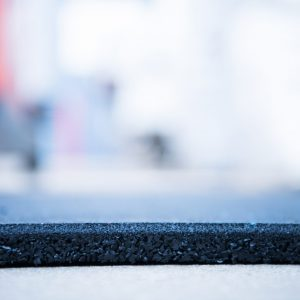 Rubber Gym Mats 1mx1mx 20mm Black with Blue Flecks