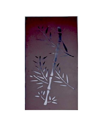 Antique Metal Screen - Bamboo Design