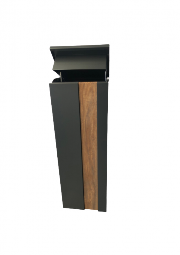 Metal Mailbox – Nice Backyard Black Slim Parcel Box 5010