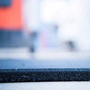 Rubber Gym Mats 1mx1mx15mm Black