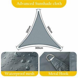 Waterproof Heavy Duty Shade Sail Sun Awning Canopy Outdoor Triangle Rectangle