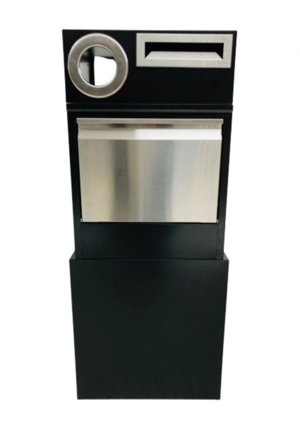 Metal Mailbox – Nice Backyard Black Parcel Box 6005
